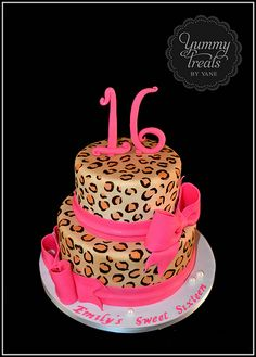 Leopard Print Cake! Inspired on a design by Pink Cake Box!