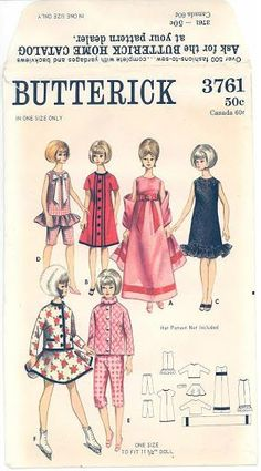 Free Copy of Pattern - Butterick 3761: