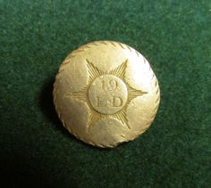RARE WAR OF 1812 BRITISH 19th LIGHT DRAGOONS OFFICER'S BUTTON
