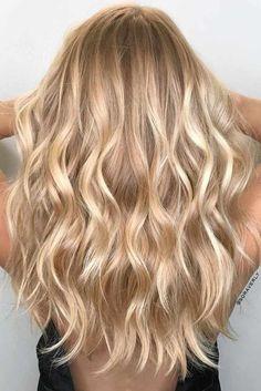 Nouvelle Tendance Coiffures Pour Femme  2017 / 2018   24 Idées Bombshell pour les cheveux blonds avec des faits saillants  Les cheveux blonds les plus tendance