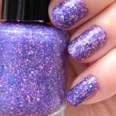 Diva Nail Polish  Purple Glitter Nail Color  05 oz by KBShimmer, $7.50