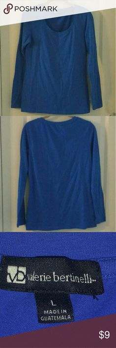 Valerie Bertinelli T-shirt Long sleeve Cobalt Blue T-shirt  ****I have 3 other Long Sleeve T-Shirts listed Separately, A white Dress Barn, a white Old Navy and A raspberry Cynthia Rowley. I can sell all or some as a bundle. Valerie Bertinelli Tops Tees - Long Sleeve