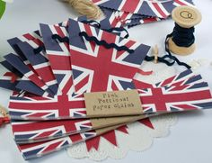 Free printable Union Flag Bunting from the 'Best of British' Party Pack.