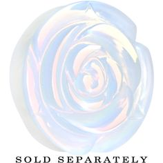 34mm Opalite Natural Stone Rose Double Flare Saddle Plug | Body Candy Body Jewelry #bodycandy #plugs #gauges #opalite
