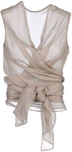 So edel! Transparente Bluse in Beige (Farbpassnummer 2) Kerstin Tomancok Farb-, Typ-, Stil & Imageberatung