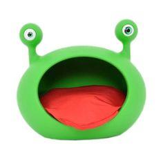 Casa Monster Cave Verde com Almofada Vermelha 155