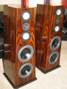 A gallery of customers who have built their own speakers from our kit designs. High End Speakers, Tower Speakers, Monitor Speakers, Bookshelf Speakers, High End Audio, Audio Speakers, Audiophile Speakers, Hifi Stereo, Floor Standing Speakers