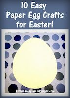 10 Crafts for Easter! You could use this as a countdown to Easter. :)