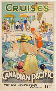 Canadian Pacific Cruises by Barribal, William H. |  Shop original vintage #posters online: www.internationalposter.com.