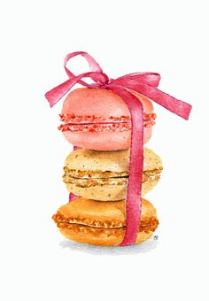 ORIGINAL Painting  Macarons Sweet Food by ForestSpiritArt on Etsy