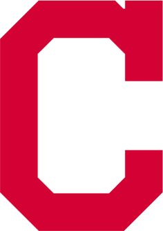 Cleveland Indians Primary Logo (2014) - A block red C with a serif on the top half of the C, promoted to primary logo status prior to the 2014 season after being used several seasons as a road and alternate cap logo