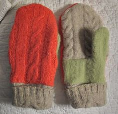 recycle wool sweater into mittens.  I've made several pairs of these now & they are amazing-especially if you add fleece inners!
