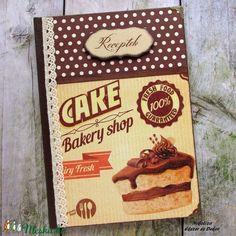 Csokitorta mintás receptkönyv (NikoLizaDekor) - Meska.hu Fresh Cake, Bakery, Monogram, Food, Magpie, Essen, Monograms, Meals, Yemek