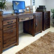 Nice solid wood double desk made easy