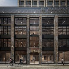 Blossom Street Planning by Duggan Morris Architects Brick Architecture, Architecture Visualization, Building Facade, Building Design, Facade Design, Exterior Design, Duggan Morris, Brick Facade, Modern Buildings