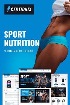 WooCommerce шаблон #65870 на тему спортивное питание от TemplateMonster. Включает расширенную функциональность, полную док...