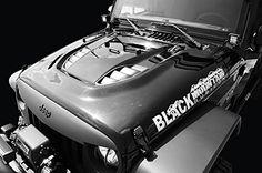 2007-2016 Jeep Wrangler Heat Reduction Hood Black Mountain Black Primered