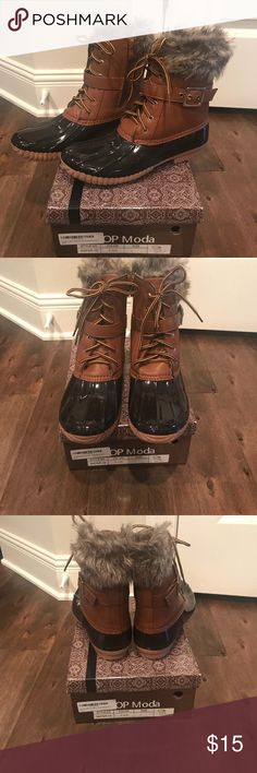 Duck boots Worn once Top Moda Shoes Winter & Rain Boots