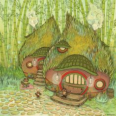 Tanuki Time by Nicole Gustafsson on Tiny Showcase - Hearts for Animals Charity