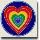 RainbowHeart-9991115005 Window Stickers, Chicago Cubs Logo, Sticker Paper, Sunlight, Team Logo, Decals, Logos, Tags, Sticker