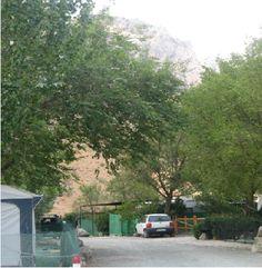 Calle del camping mas cercana a la falda de El Torcal.