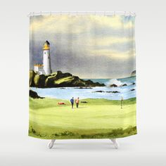 Design your everyday with golf shower curtains you'll love to show off in your bathroom. Choose unique patterns and designs from independent artists. Green Shower Curtains, Golf Theme, Scotland, Golf Courses, Bathroom, Pattern, Design, Decor, Washroom