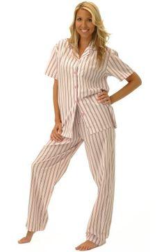 Women s Classic Short Sleeve Cotton Pajama Set - 19.99-28.99 a32c6324f