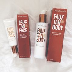 The best sunless tanner ever! BareMinerals Faux tan.