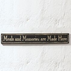 Say It In a Sign, Meals and Memories?  #walldecor #kitchen http://athomewithkaylamarie.athome.com