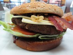 The Jim Beam Bourbon Burger from Carl's Jr.  Flavored with real Jim Beam! Woot!