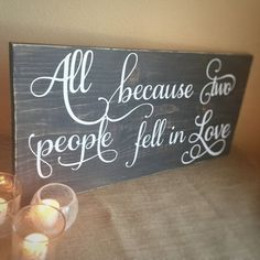 rustic home decor - wooden quote sign - rustic country wedding decor -Valentine's day gift -5th anniversary -romantic sign love quote sign