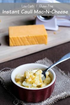 Quick Caluflower Mac and Cheese