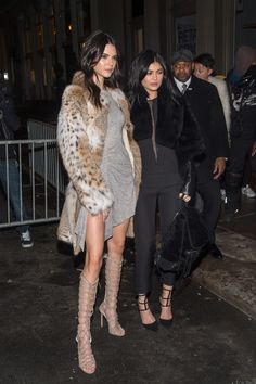 Kendall Jenner and Kylie Jenner attend the Kendall + Kylie Launch on February 8, 2016 in New York City.