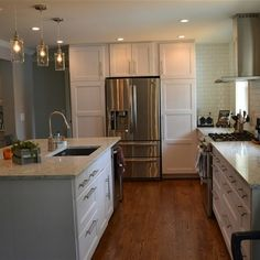 Six month renovation on a 1960's ranch house.  Loving our new kitchen!