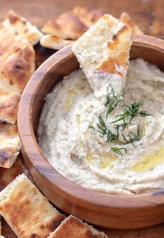 Garlic Dill White Bean Dip - The perfect 5 minute appetizer to add to any cheese or charcuterie plate. Great to serve at any holiday party. White Bean Hummus, White Bean Dip, White Beans, Bean Dip Recipes, Dill Recipes, Toast, Snacks, Appetizer Recipes, A Food