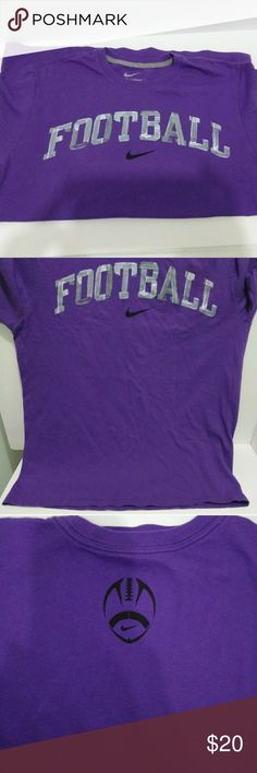 Nike football t-shirt Men's Nike football t-shirt. Size XL. Purple with grey lettering. Nike Shirts