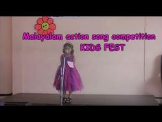Malayalam action song at school competition in Kerala