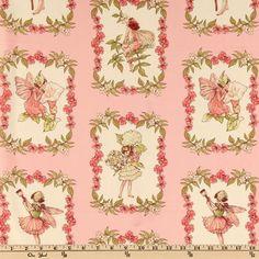 Michael Miller Sweet Flower Fairies Sweet Fairies Rose - Discount Designer Fabric - Fabric.com  $8.98