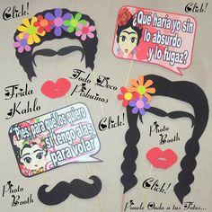 photo booth carteles divertidos para fotos frida kahlo