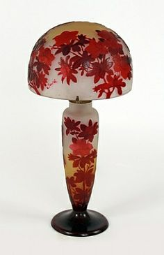 Emile Gallé, Floral Table Lamp 1905 ㊙️More Like This At FOSTERGINGER @ Pinterest