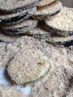 Breading for eggplant Parmesan. On the blog!