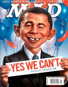 Mad Magazine September 2008. Yes We Can't.