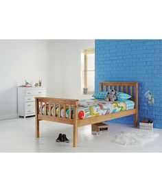Buy Henry Pastelle Oak Look Single Bed Frame at Argos.co.uk - Your Online Shop for Children's beds, Children's beds.