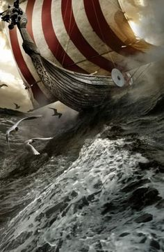 They came out of the mist on an icy wind, and froze the blood of weaker men. -A dragger, the Viking ship-of-choice, so named for the dragon head carved onto the prowl.