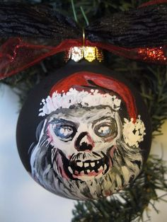 Walking Dead Zombie Santa Hand painted dated and signed by artist Ornament in Collectibles, Holiday & Seasonal, Christmas: Current (1991-Now) | eBay