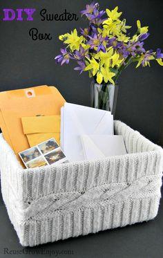 DIY Sweater Box, Super Easy To Make!
