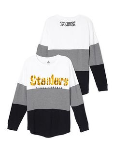 Pittsburgh Steelers Varsity Crew PINK (Small)