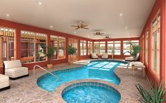 """An indoor swimming pool (not necessarily this specific design) may seem a bit extravagant, but it's certainly on my """"check list"""" when I build my villa."""