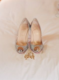 Christian Louboutin Wedding Shoes with Red Bottom ♥ Chic and Fashionable Wedding High Heel Shoes