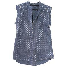 CLOSED Blue Cotton Top